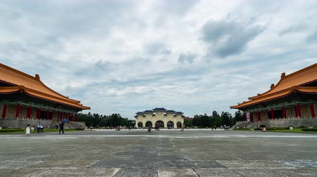 memorial day : time lapse of Liberty Square of Chiang Kai-Shek Memorial Hall in Taipei, Taiwan