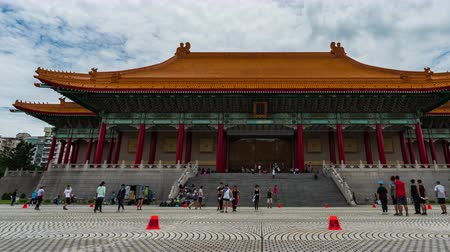 salle de concert : time lapse of National Theater Hall of Chiang Kai-Shek Memorial Hall in Taipei, Taiwan Vidéos Libres De Droits