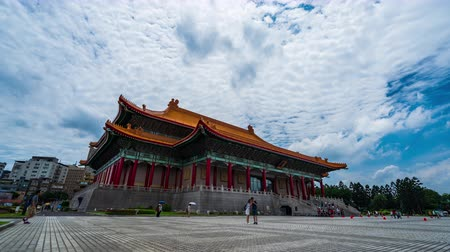 taiwan : time lapse of National Theater Hall of Chiang Kai-Shek Memorial Hall in Taipei, Taiwan Vídeos