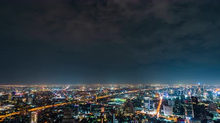 chao : time lapse of Bangkok city at night, Thailand