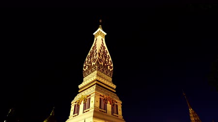 phra : Wat Phra That Phanom Temple at night in Nakhon Phanom Province,Thailand