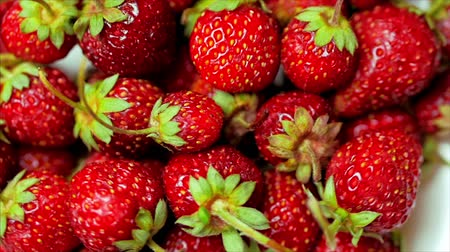 Fresh Fruits Appetizing and Beautiful Strawberries as Food Background. Organic Healthy Ripe Strawberry Nutrition.