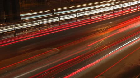 blur : Night traffic timelapse.