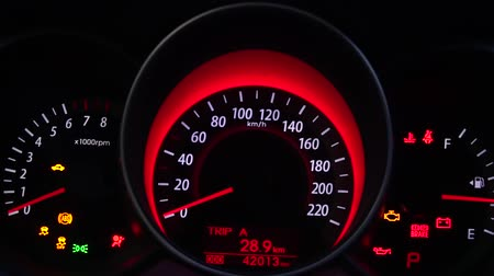 tachometer : Dashboard in the car close up
