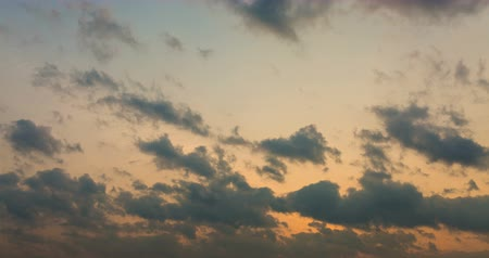 god ray : Moving clouds and sundown Stock Footage