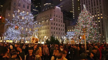 boŻe narodzenie : Christmas Tree in Rockefeller Manhattan New York