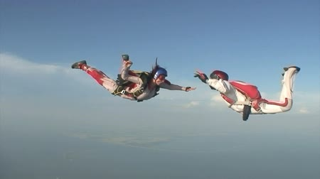 bravery : Skydiving video. Stock Footage