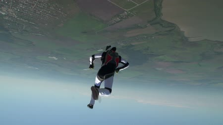 экстремальный : Skydiving video. Стоковые видеозаписи