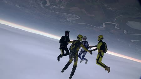 passatempo : Skydiving Video. Stock Footage