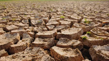neúrodný : Dry soil results from lack of water.Global warming