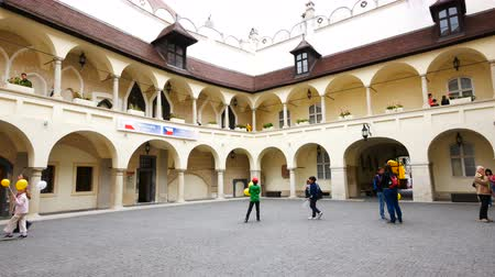 высокое разрешение : Bratislava, Slovakia, the courtyard of the Old Town Hall