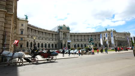 hofburg : Vienna, Austria, carriage with horses close to the Hofburg palace