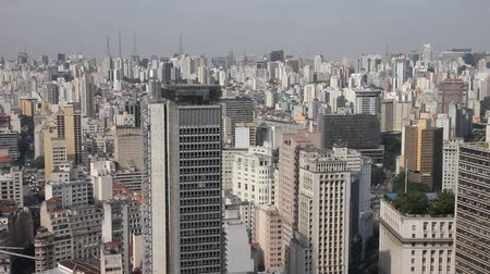 güney : Skyscrapers in Sao Paulo, Brazil Stok Video
