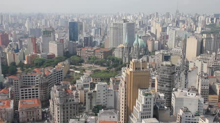latin amerika : View of Sao Paulo and the Se Cathedral, Brazil