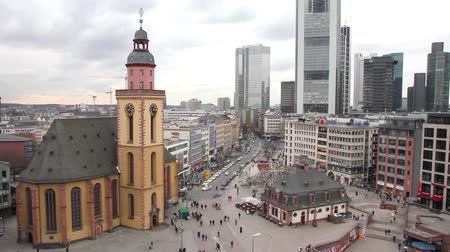 Франкфурт : Skyline of Frankfurt with Hauptwache and the plaza