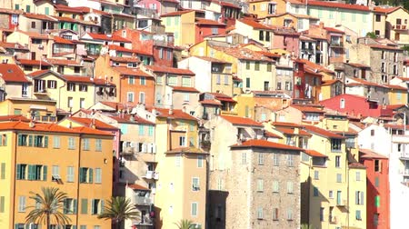 menton : Buildings in the old village of Menton, French Riviera