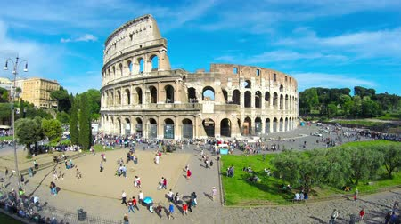 roma : Colosseum Rome Italy Stok Video
