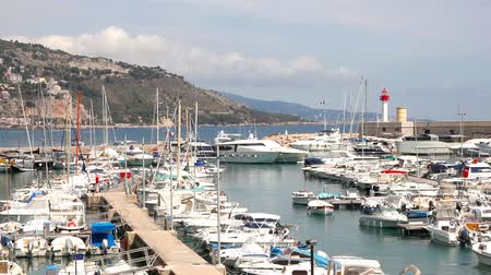 menton : Port of Menton, French Riviera Stock Footage