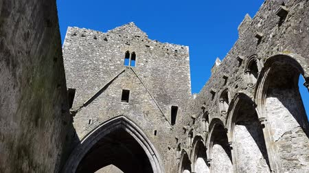 eire : Rock of Cashel, Ireland Stock Footage