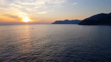 гот : Sunset in Cinque Terre, Italy