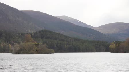 aeródromo : View of the mountains and the lake in the Rothiemurchus forest, by Aviemore in Scotland