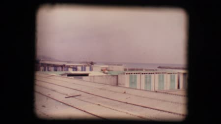 lonely : Vintage 8mm. Original footage digitalized. Empty seaside resort in winter