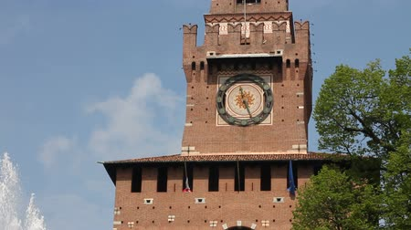 milan : Main entrance of Castello Sforzesco in Milan, Italy. Sforza Castle was built in the 15th century.