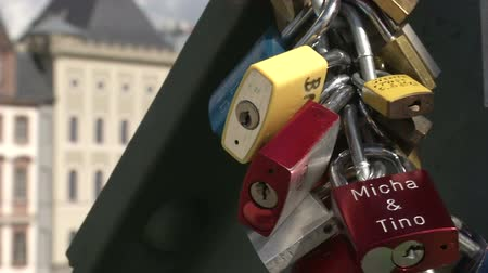 birlik : Lockers symbolizing love forever in Frankfurt, Germany