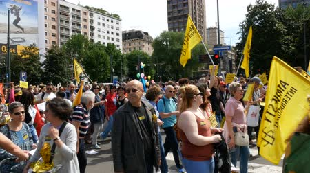 af : Amnesty International takes part in demonstration in Milan, Italy