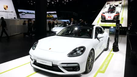 Porsche e-hybrid exhibited during the IAA auto show in Frankfurt, Germany on September 13, 2017.
