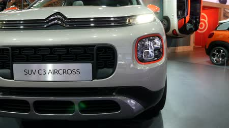 citroen : Front area of ??the new Citroen SUV C3 model at the IAA car show in Frankfurt, Germany on September 13, 2017.