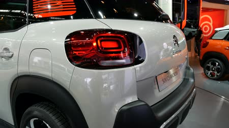Rear area of ??the new Citroen SUV C3 model at the IAA car show in Frankfurt, Germany on September 13, 2017.