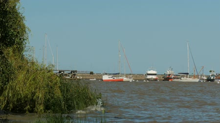Port area in the historic center (at Unesco World Heritage site) of Colonia del Sacramento, Uruguay.