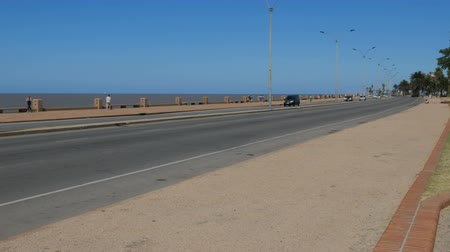 Large road beside the sea in Montevideo, Uruguay, on December 10, 2017.