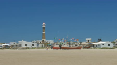 Fishing boats on the beach in Cabo Polonio, Uruguay.