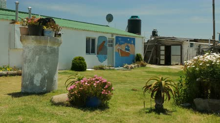 Residential buildings in Cabo Polonio, a small village on the Uruguayan coast.