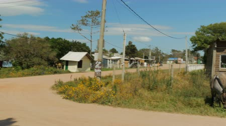 Dirt roads in Barra de Valizas, a small village in Uruguay.