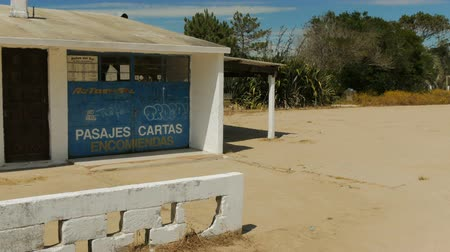 Bus station in Barra de Valizas, a small village on the coast of Uruguay.