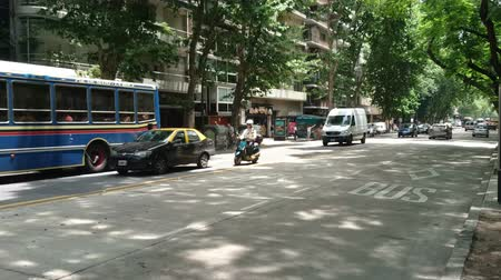 aires : Light traffic in Palermo neighborhood in Buenos Aires, Argentina on December 27, 2017.