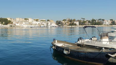 sea port : Small fishing and pleasure boats docked in Brindisi, Italy.