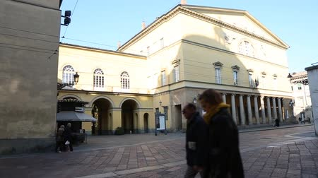 Parma, Italy - November 2018: Royal Theater in Parma, Italy, on a Sunny Winter Day