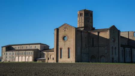 Hyperlapse of Carthusian Monastery located in the outskirts of Parma in Italy Abbey of Valserena