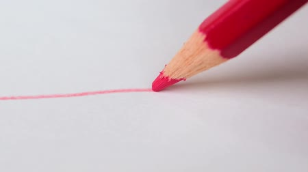 exercício : Drawing red line on white background. artistic concept. Vídeos