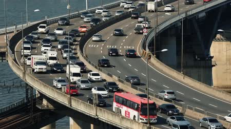 han river : Traffic at Seoul City, South Korea.Time lapse HD