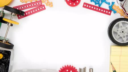 STEM or DIY science Kit set white background.