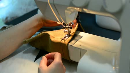 paplan : Woman working with sewing machine, Close up HD Clip.
