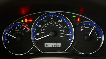 kilometer : Dashboard in the car