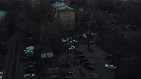 szektor : One of the districts of Moscow, sunset in spring evening
