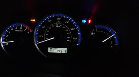 kilometer : Car Dashboard With Speedometer