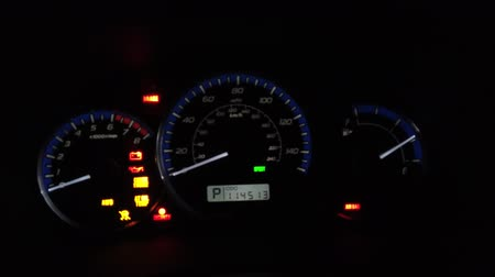 tachometer : Car Dashboard With Speedometer